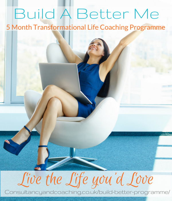 Build A Better Me Programme, 5 month peak performance transformational programme, Consultancy and Coaching